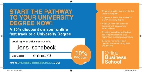 Bachelor degree voucher